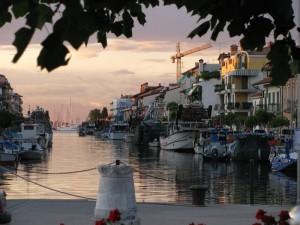 tramonto al porto di Grado