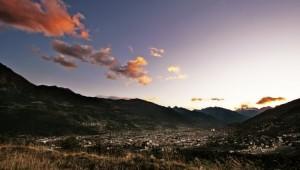 La piana al tramonto