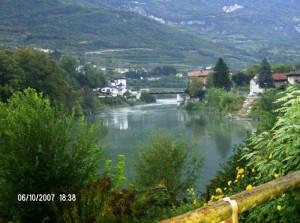 Case sull'Adige fuori Rovereto