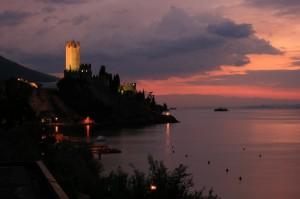 Castello di Malcesine al crepuscolo