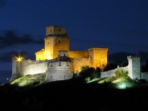 Luci della sera sulla Rocca di Assisi