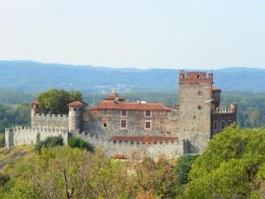 Vista frontale Castello di pavone