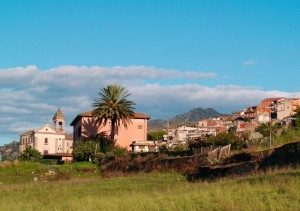 Il borgo Cavallaro visto da Gaggi