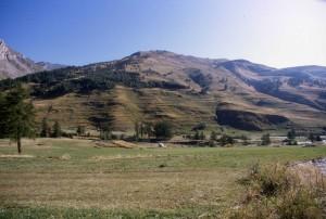 paesaggio montano nella zona di Casteldelfino, Val Varaita