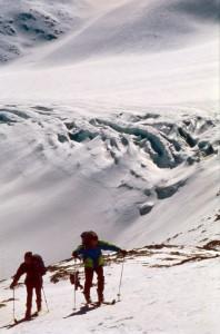 Salita del ghiacciaio del Mandrone