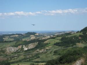 la Bassa vista dalle colline di Ozzano