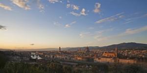 Scende la sera a Firenze…