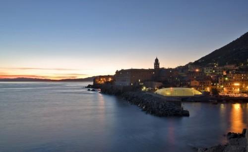 """Genova - """"tramonto sul porticciolo di Nervi"""""""