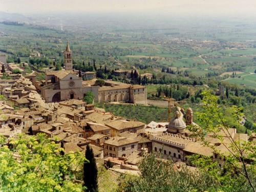 Assisi - Assisi dall'alto