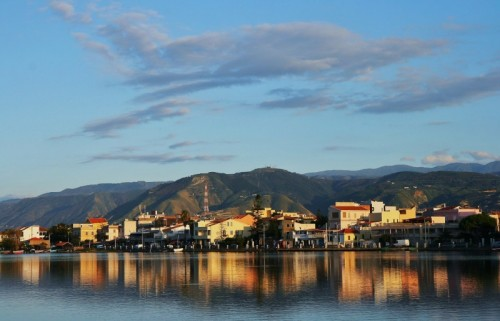 Messina - riflesssi dorati a ganzirri
