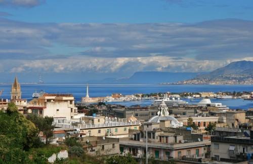 "Messina - panorama ""stretto"""