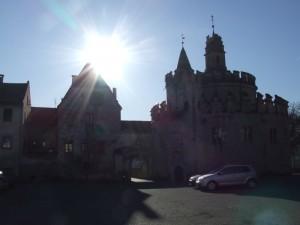 Abbazia di Novacelle: Castello dell'Angelo controluce