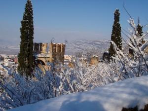 Panorama soavese dopo la nevicata