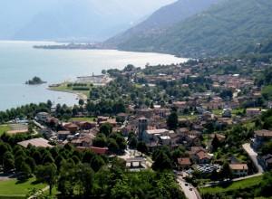 Panorama di Sorico sul lago di Como
