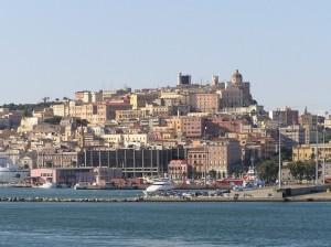 Panorama di Cagliari dal mare