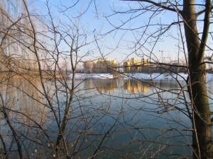 Lago Malaspina con la neve
