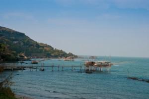 Vista della costa dei trabocchi da Fossacesia marina