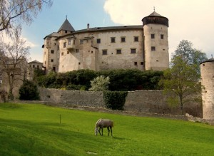 Castel Presule, prato sotto le mura