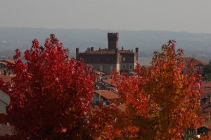 Cornice autunnale al castello.