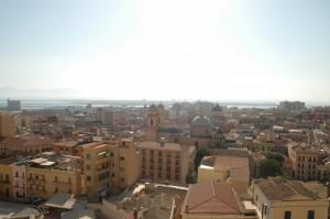 La città di Cagliari vista dalle mura