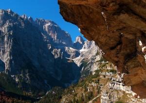 Verso il Rifugio Croz dell'Altissimo ai piedi del Brenta