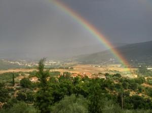 missiano sotto l'arcobaleno