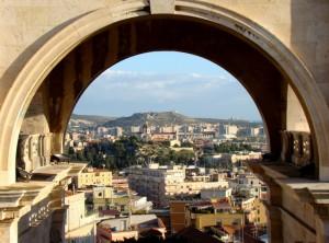Cagliari vista dal bastione S. Remy
