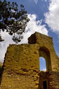 Le rovine del castello di Mazara