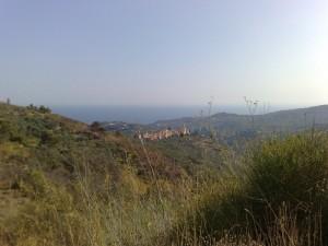 Civezza (IM) vista dalla strada che porta a Monte Faudo