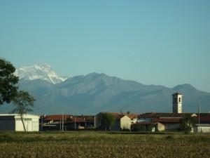 Cigliano dalla Provinciale per Torino