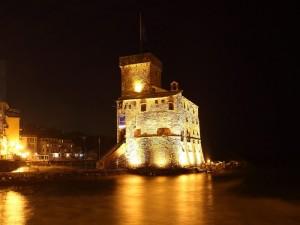 il fascino del castello antico di notte