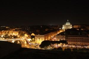 Di notte da Castel Sant'angelo