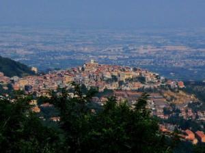 Panorama di Rocca Priora dall'alto
