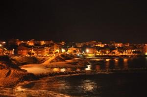 Porto Torres by night: lungomare Balai