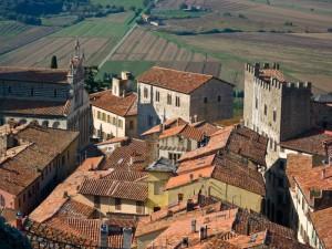 panorama della città medioevale