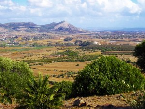 carbonia vista da monte sirai