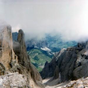 Colfosco di Corvara vista dalla Val di Mesdì - Gruppo del Sella