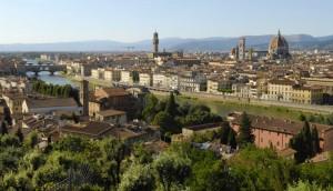 Panoramica della citta vecchia Firenze