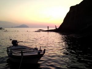 Il tramonto a Pollara