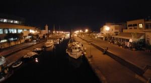 Panoramica lungo canale di Viareggio