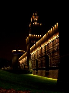 Notte al castello Sforzesco