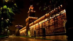 Pioggia notturna al Castello