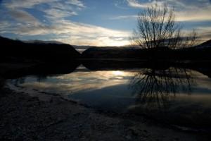 Alba al lago di Barrea