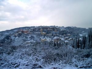 ..è nevicato a Seggiano