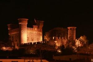 Il castello Bonoris di notte
