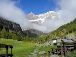 Cime del Monte Rosa dal Rifugio Pastore