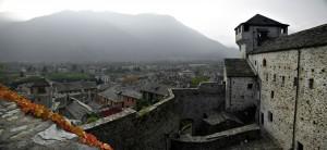 Panorama di Vogogna con vista del suo Castello Visconteo