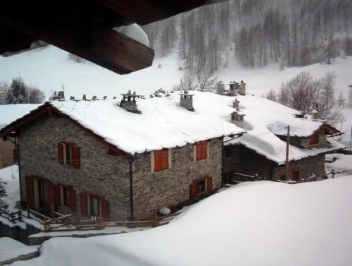 Pontechianale - Nevicata a Chianale