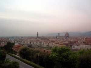 Firenze all'imbrunire