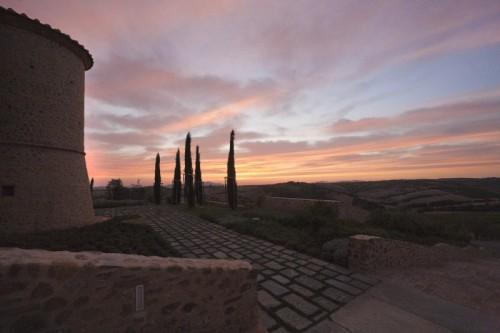 Cinigiano - tramonto a colle Massari